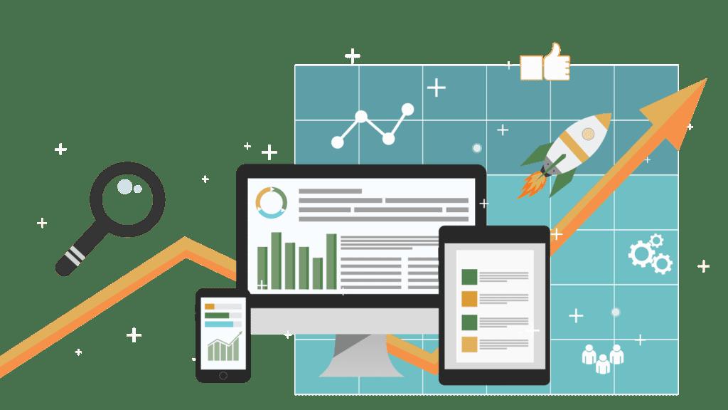 Graphic to represent full service digital marketing