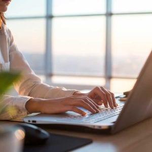Writer on laptop